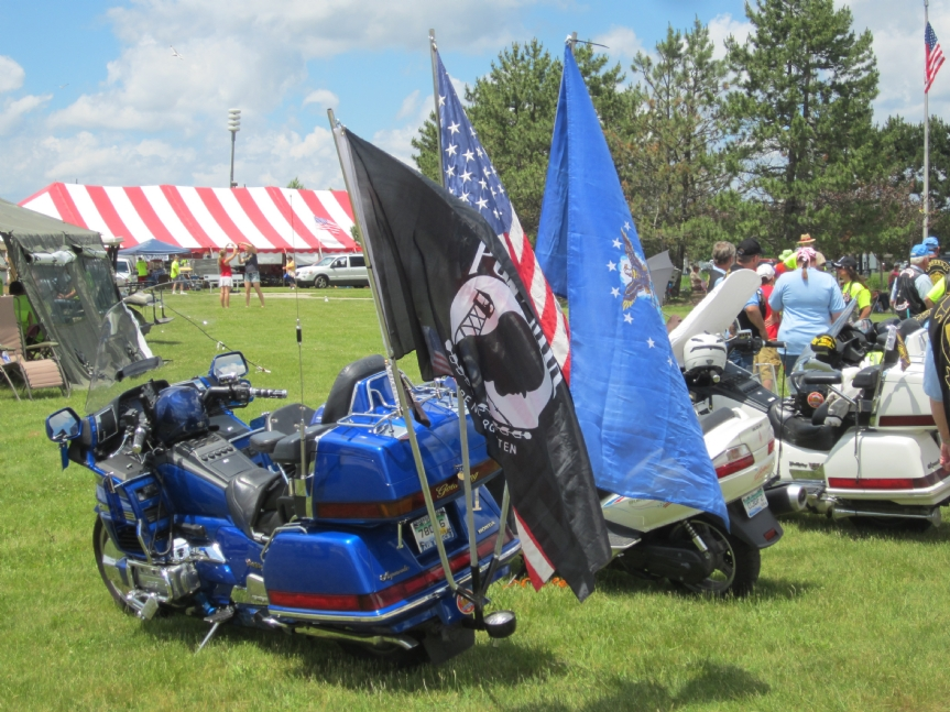 Even motorcycles carry the POW/MIA Flag
