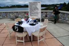 POW/MIA Remembrance Table at National Cemetery in Holly