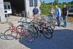 Delivering bicycles to home for children from Post 334